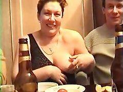 Grup seks, Amatör, Rusya, Büyük güzel kadın