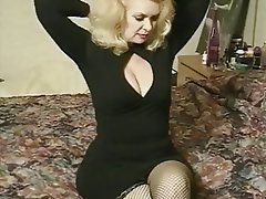 Grands seins, Blonde, Grandmere, Star du porno