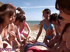Beach, Gangbang, Japanese