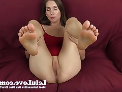 Amateur, Brunette, Foot Fetish, POV