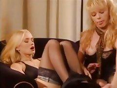 Blonde, German, Threesome, Vintage
