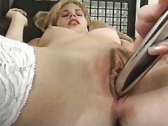 Masturbation, Blonde, MILF, Lingerie