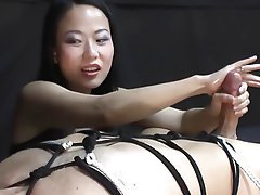 Asian, Femdom, Handjob