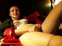 Masturbation, MILF, Orgasm, Stockings