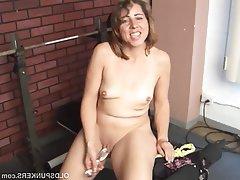 Mature, Masturbation, Mature, MILF, Saggy Tits