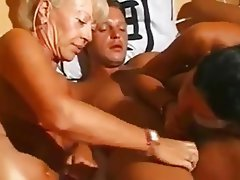 German, Granny, Group Sex, MILF