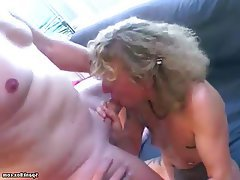 Blowjob, Facial, German, Granny