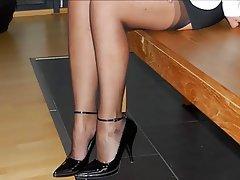 Cuckold, Granny, Pantyhose, High Heels
