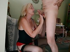 Blowjob, Mature, Cum in mouth