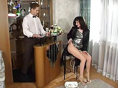 Anal, Brunette, Russian, Stockings