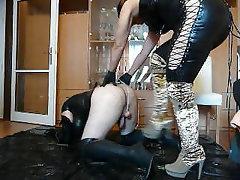 BDSM, Femdom, Handjob, Latex