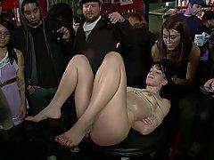 BDSM, Knechtschaft, Brünette, Rau