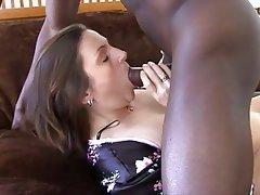 Blowjob, Brunette, Interracial, Mature