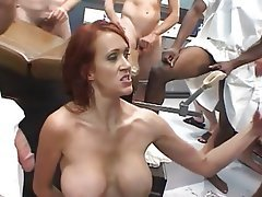 Big Boobs, Creampie, Facial, Gangbang