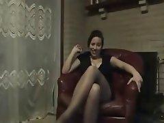 Femdom, Foot Fetish, POV, Stockings