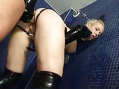 Deutsch, Blondine, Latex