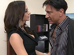 Brunette, Big Cock, Blowjob, Office