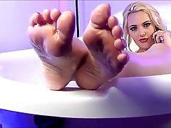 Blonde, Foot Fetish, Pornstar, Shower