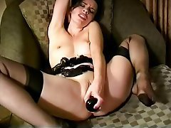 Foot Fetish, Lingerie, Masturbation, Stockings