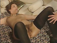 German, Group Sex, MILF, Strapon
