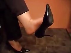 Femdom, Foot Fetish, Stockings, Webcam