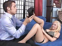 Blonde, Foot Fetish, Pornstar