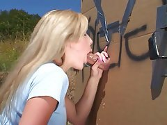 Blowjob, Outdoor, Gloryhole