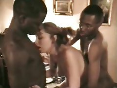 Gangbang, Interracial
