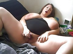 Babe, BBW, Big Boobs, Masturbation
