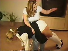 Lesbian, Spanking, Strapon