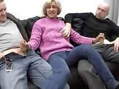 Blowjob, Gesichtsbehaarung, Deutsch, Oma