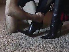 Femdom, Foot Fetish, German, Stockings