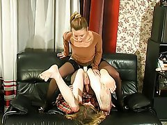 BDSM, Blonde, Femdom, Russian