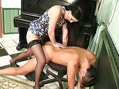 BDSM, Brunette, Femdom, Russian