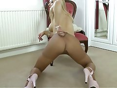 Blonde, British, Masturbation, Pantyhose