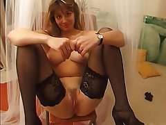 Amateur, Casting, French, Stockings