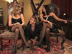 Blonde, Femdom, Mistress, Stockings