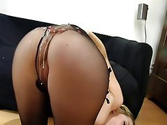 Cumshot, German, Pantyhose