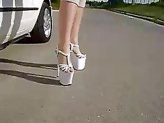 Amateur, Blondine, Freien, Fuß Fetisch