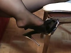 Amateur, Femdom, Foot Fetish, Stockings