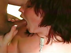 Blowjob, Brunette, Facial, Group Sex